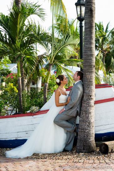 Happy Bride and Groom - Hyatt Key West