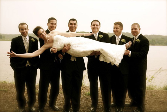 Fun Bridal Party Pose by Kassie Baker Virginia