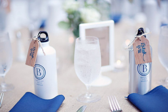 water bottle wedding favors