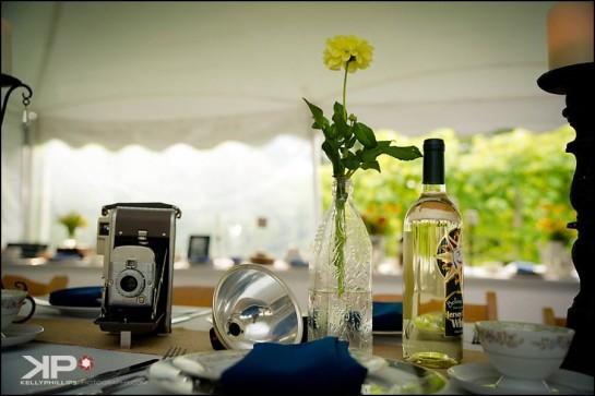 Table Settings Vineyard Wedding
