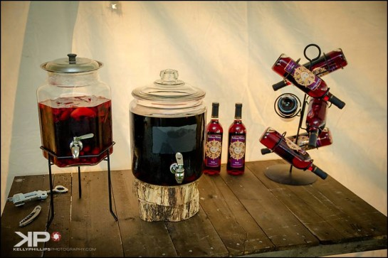 Wine Table Winery Wedding