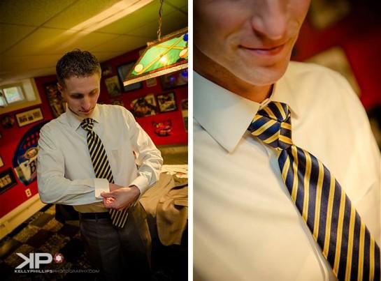 Groom Getting Ready New Jersey Vineyard Wedding