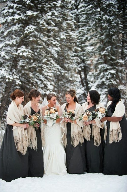 Pretty Shawls Bridesmaids