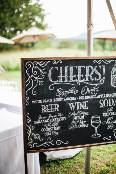 Wedding Sign Drink Menu