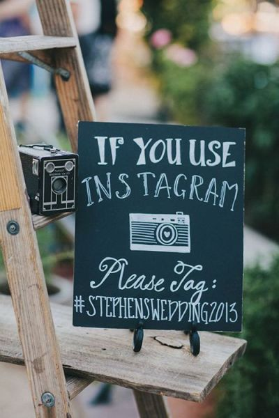 Wedding Sign Instagram
