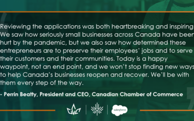 Local Supreme Cheerleading Inc. Gets $10K Grant from Canadian Chamber of Commerce and Salesforce