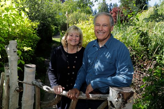 Governor Jay Inslee with his wife, Trudi Inslee