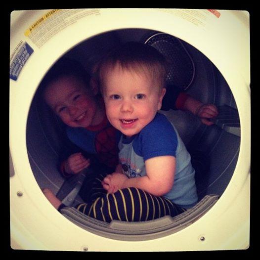 Boys in Dryer