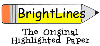The Original Highlighted Writing Paper for Adaptive Use