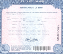 Certified US Birth Certificate