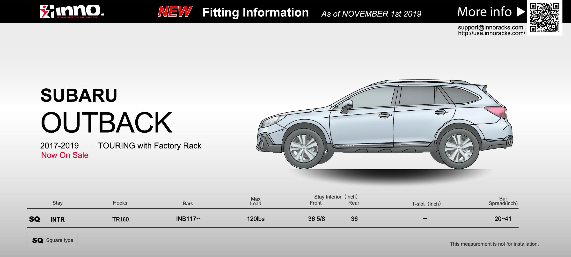 2017-2019 Subaru Outback