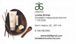 Arbonne - Louise Entner Conseillere Indépendante