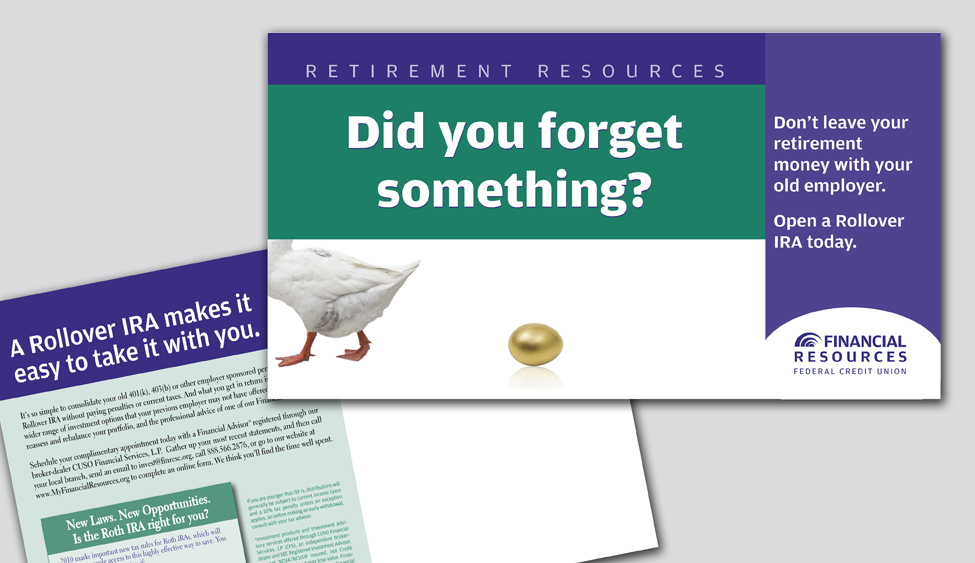 Direct mail for Financial Resources