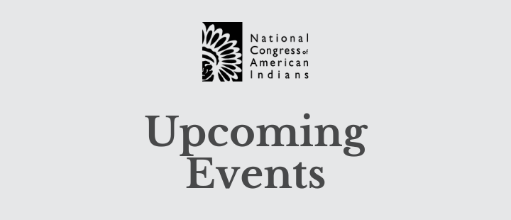 NCAI Events Week of May 18, 2020
