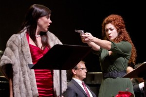 Shantelle Przybylo, Julia Mintzer and James Shaffran in Part of the Act at WNO.