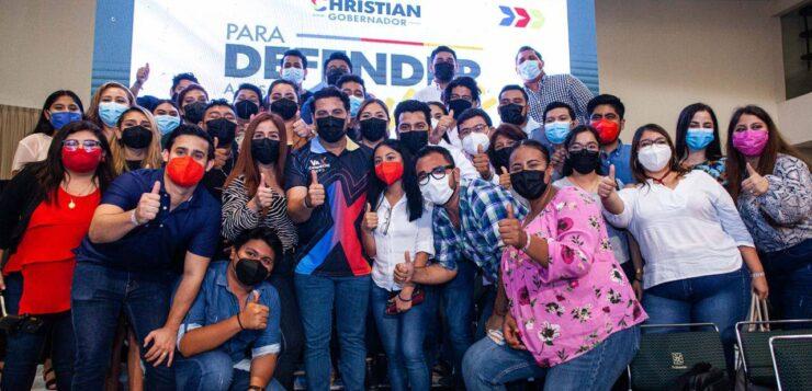 """""""CAMINAMOS CON PROPUESTAS VIABLES PARA DEFENDER CAMPECHE Y AVANZAR AL PROGRESO"""": CHRISTIAN CASTRO BELLO"""