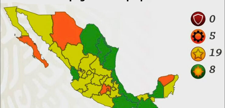 FOR 8 STATES, COVID STOPLIGHT WILL BE GREEN: NUEVO LEÓN, OAXACA RATED LOW RISK