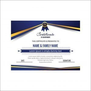 Customized Blue Business Certificate of Achievement (pack of 50)