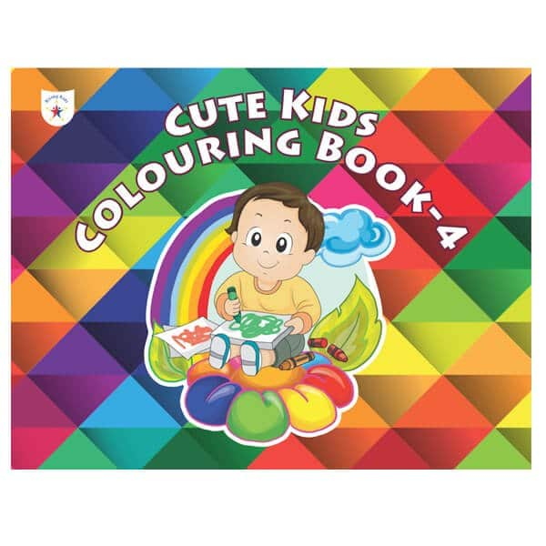 Cute Kids Colouring Book Part 4 Rising Kids (Drawing Book) Skool Store