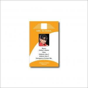 Id Card with Orange Colour Wavy Design (pack of 50)