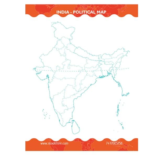 Reusable India Political Map Practice Book - Skool Store