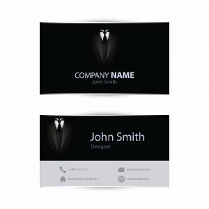 Business Card in black white design (pack of 100)