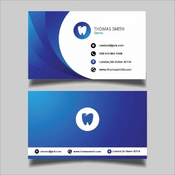 Blue Dentist Business Cards (Pack of 100)