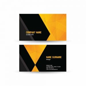 Business Card with Black and Orange Design (Pack of 100)