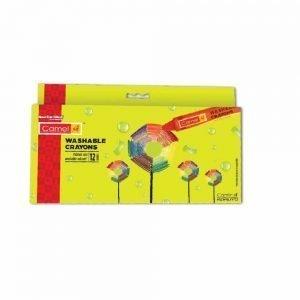 Camlin Kokuyo Washable Crayon Set - 12 Shades (Multicolor)