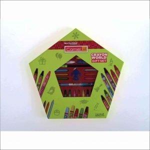 Camlin Kokuyo Crayon World Gift Set (Multicolor)