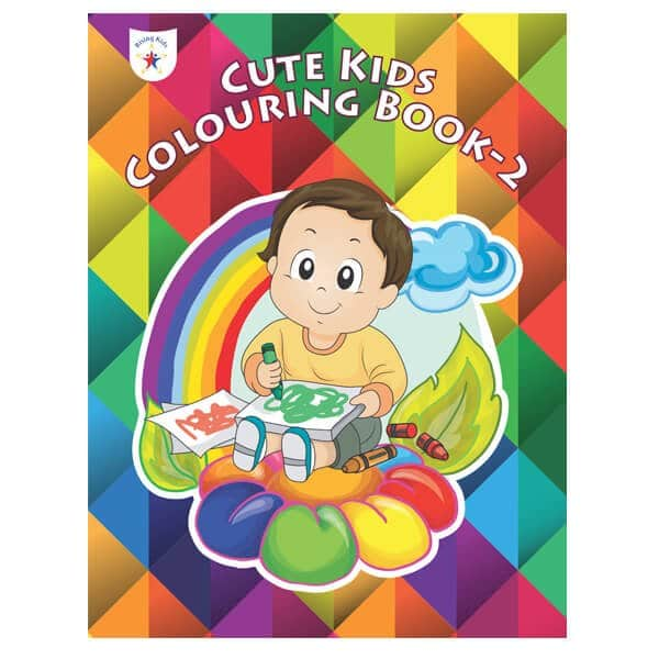 Cute Kids Colouring Book Part 2 Rising Kids (Drawing Book) skool Store