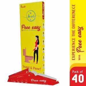 Pee Easy - Stand And Pee Disposable Female Urination Device For Women 40 Funnel 4 Pack- the love co- Skool Store