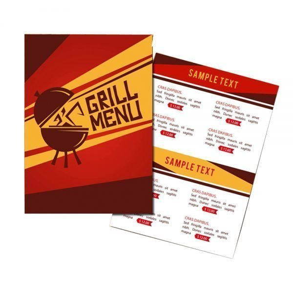 Barbeque Restaurant Grill menu card printing online in in India and Near me 1