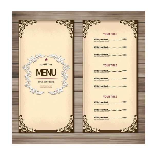 Restaurant menu card printing online in in India and Near me