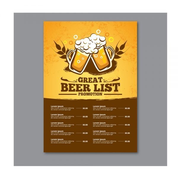 cocktail bar menu card printing online in in India and Near me