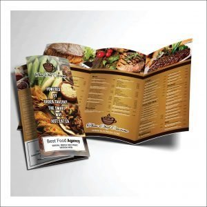 Food Menu Trifold for your Restaurant ( Pack of 10)