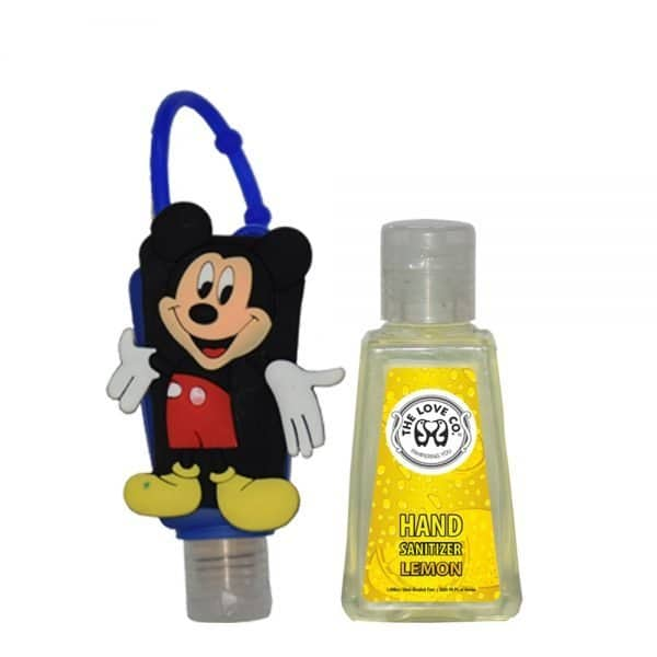 The Love Co. Hand Sanitizer (Lemon) 30 ml With Bag Tag(Mickey Mouse)