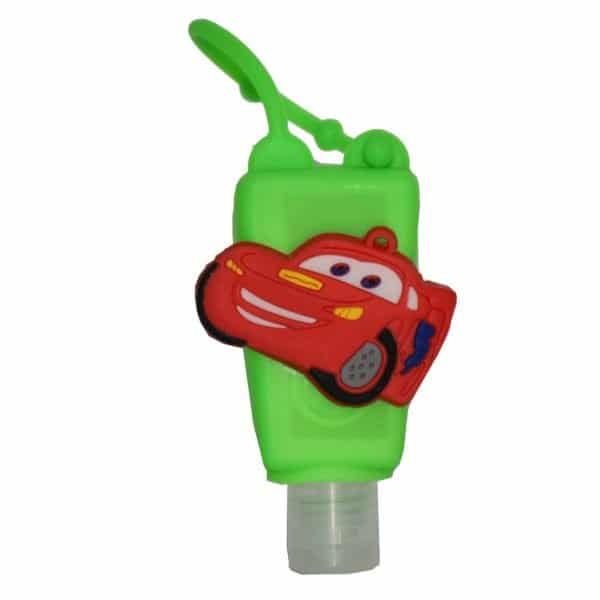 The Love Co. Hand Sanitizer Pack Of 2 (IPA) 30 ml With Bag Tag (Disney PIXAR Cars Lightning Speed - Car Green)