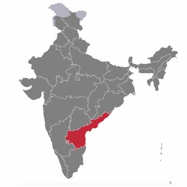 Indian andhra pradesh Map
