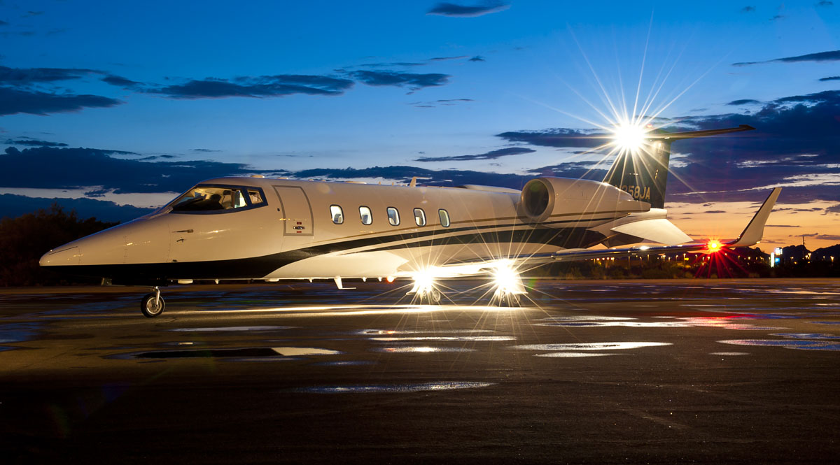 Learjet 60-XR on Tarmac