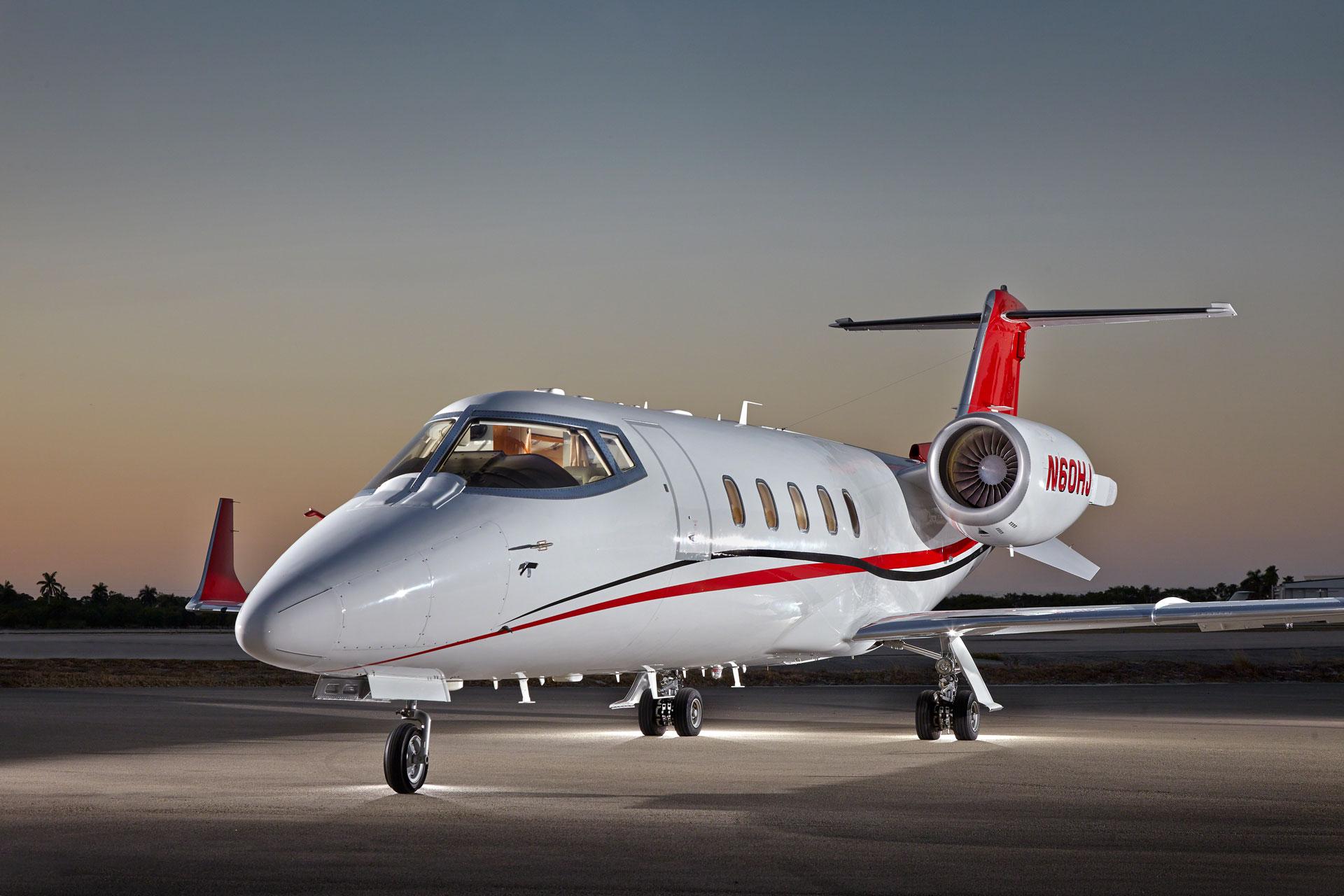 Learjet 60 XR on tarmac