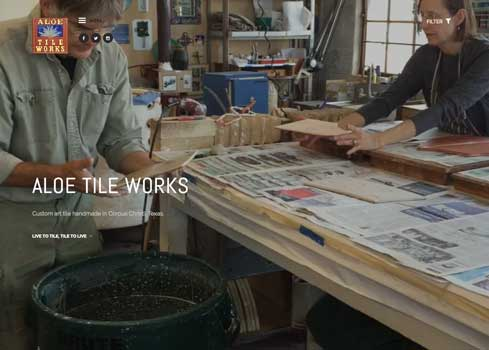 Aloe Tile Works Website and Logo