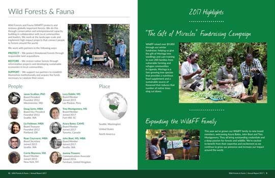 Wild FF Annual Report Interior
