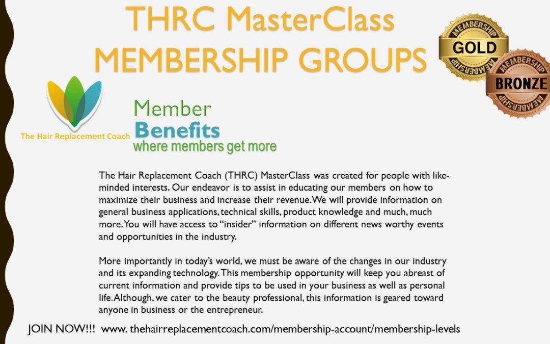 THRC MasterClass Membership Groups