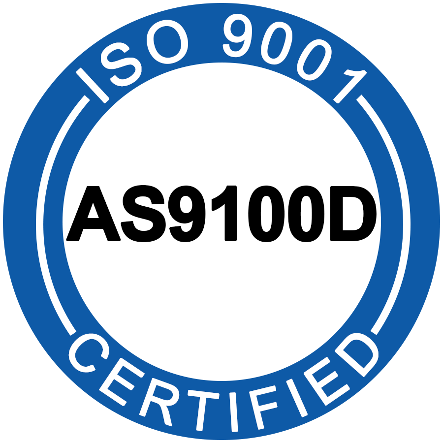 Fotofab's ISO/AS9100D certification seal