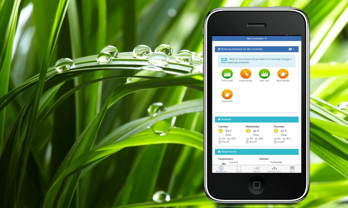 smart irrigation sprinkler system