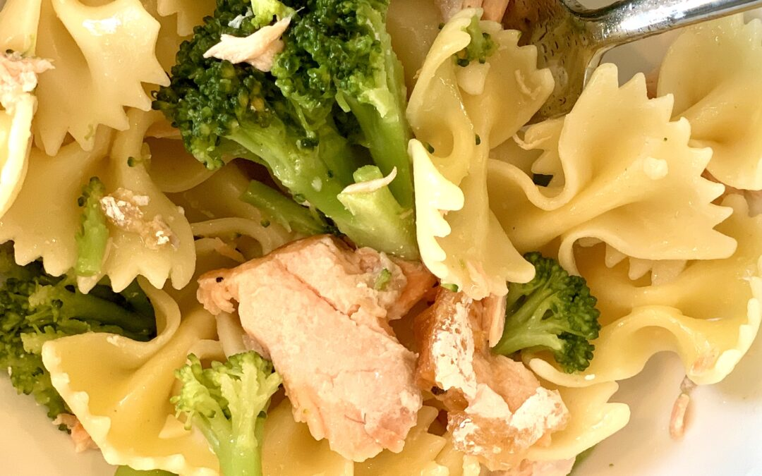 Pasta with Broccoli and Salmon
