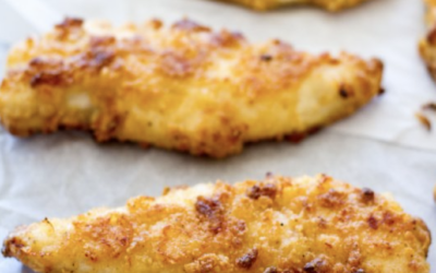 Baked Chicken Tenders with Healthier Ranch