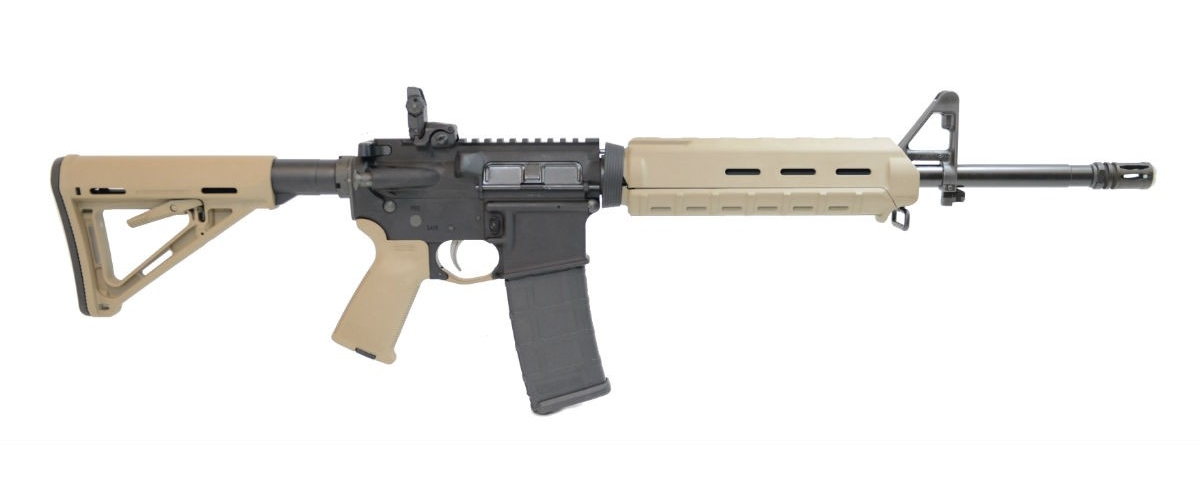 Palmetto State Armory Mid-Length Nitride MOE EPT Freed Rifle with Rear MBUS