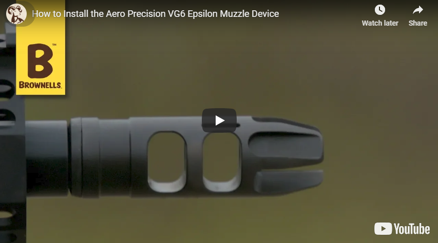 VG6 Precision Epsilon 556 Muzzle Device Installation